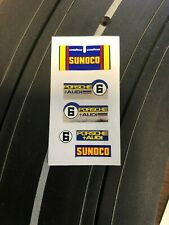 Aurora AFX Thermal Print Decals w/better chrome than original BLUE SUNOCO #6
