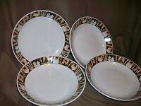 Vintage Christmas Patch 6 Piece Soup or Salad Bowl Set Leslie Beck Sakura Majesticware