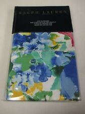 Ralph Lauren ASHLYN Floral White Blue Yellow Green 2 King Pillowcases
