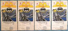 1991 McDonald's Happy Meal - BATMAN RETURNS - Vintage MINT UNUSED Lot of 4 Bags