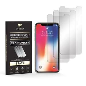 WHIZTEK[3 Pack]Apple iPhone 6 7 8 Screen Protector. Premium Tempered Glass Film
