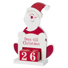 Santa Wooden Advent Countdown Calendar - Days Till til Christmas Decoration BN