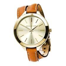 Para Mujeres Delgado Michael Kors MK2256 Doble Envolvente Reloj Correa De Cuero