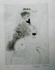 Rare 1906 Jacques Villon Original Pencil Signed Drypoint Etching