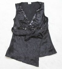 Maurices Black Polyester Sleeveless Tank Top T-Shirt Women's Woman Small Solid