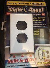 LED Night Angel Light Wall Outlet Face Hallway Bedroom Bathroom Safety Light
