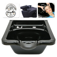 Hair Sink Barber Basin Wash Large Shampoo Bowls Beauty Salon Spa Equipment Black