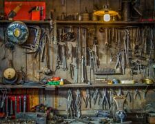 Repair Tools Shop Photography Background 5x4ft Baby Retro Photo Studio Backgrops