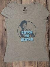 Saved by the Bell TV Show A.C Slater CATCH YA SLATER Womens V-neck T-Shirt SZ XL