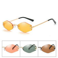 Women Men Hexagonal Frameless Sunglasses 5 Colors Vintage Metal Glasses NEW