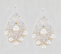 charming White Pearl 925 Sterling Silver White Earring Natural jewellery US
