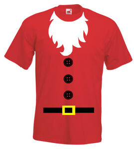 Santa Father Christmas Xmas Mens Womens Kids Childrens Funny Party T-Shirt New