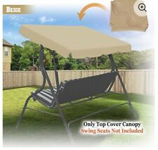 "Strong Camel Swing Canopy Replacement, Beige 77"" X 43"""
