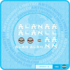 Alan Bicycle Decals Transfers Stickers - White - Set 1