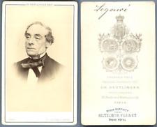 Reutlinger, Paris, Legouvé Vintage carte de visite, CDV.Gabriel-Jean-Baptiste-