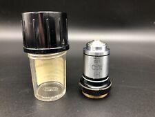 Vintage OLYMPUS Microscopio aceite emersión objetivo Hi x100 1.30