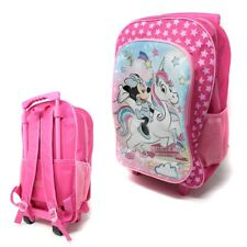 Disney Minnie Mouse Unicorn Girls Foldable Trolley Luggage Bag Suitcase 8469T