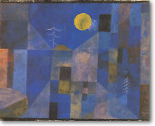 """Paul Klee MOONSHINE 30"""" x 24"""" Stretched Canvas Giclee Art Repro"""