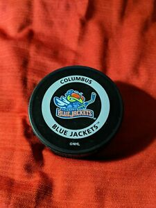 Rare Vintage 2001 Columbus Blue Jackets Official Game Puck In Tube Sherwood