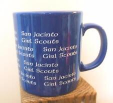 """San Jacinto Girl Scouts Mug Blue and White Texas 3.5"""""""