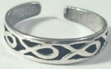 Jesus Fish Toe Ring Adjustable 925 Sterling Silver