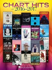 Chart Hits of 2016-2017 Sheet Music Piano Vocal Guitar SongBook NEW 000225438
