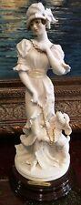 """Giuseppe Armani Figurine Figure Sculpture Statue """"Dear Friends""""Lady With Poodle"""""""