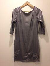 Dorothy Perkins Silver Dress Sequins Size 10 - <E4285
