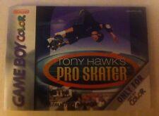 TONY HAWK'S PRO SKATER Gameboy Color INSTRUCTION BOOKLET ONLY