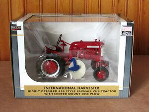 SPECCAST INTERNATIONAL HARVESTER 450 FARMALL TRACTOR w DISC PLOW 1/16  NEW