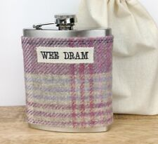 WEE DRAM Tweed Hip Flask - Scottish Gift for Her - Ladies Hip Flask - Funny Gift