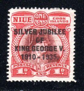 1935 Niue SC# 67 - Silver Jubilee King George V 1910-1935 - M-H