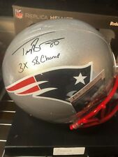 NEW ENGLAND PATRIOTS TROY BROWN #80 SIGNED RIDDELL F/S HELMET 3X SB CHAMPS JSA