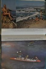 1949 CALIFORNIA GOOGLE FISHING magazine article, Skin diving, color photos