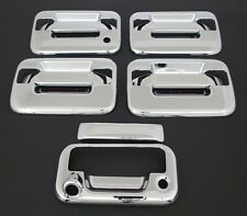 2004-2014 FORD F150 4DR CHROME DOOR HANDLE+TAILGATE COVER+NO KEYPAD+CAM