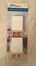 Mini Artists easels with Canvas 6 cm x 8 cm 2 Pack