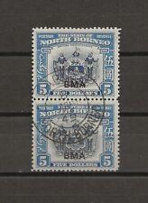 More details for north borneo 1945 sg 334 used pair cat £50