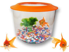 NEW GOLDFISH STARTER SET AQUARIUM GOLD FISH TANK BOWL GRAVEL PLANT KIT GOLD FISH
