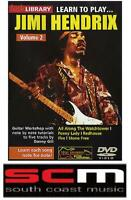 LEARN TO PLAY JIMI HENDRIX VOLUME 2 LICK LIBRARY TUITIONAL TUTORIAL DVD
