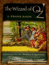 VINTAGE THE WIZARD OF OZ BY L FRANK BAUM HB/DJ 1956 ED ILLUSTRATED JR. LIBRARY
