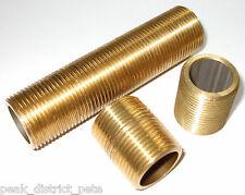 "Brass Nipple - barrel, running, long running - choose one 1/2"" to 1""BSP"