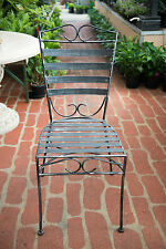 Outdoor Garden Furniture Dining Patio Table Wrought Iron Chair Seat Silver Black
