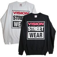 Vision Street Wear Mens Logo Fleece Crew Pullover Sweatshirt