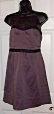 $64 AMERICAN EAGLE SIZE 4 STRAPLESS ZIP BACK PURPLE PINK TINT SUMMER DRESS