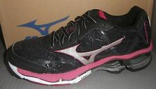 WOMENS MIZUNO WAVE CREATION 16 in colors BLACK / SILVER / ROSE SIZE 6.5