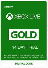 XBOX Live 14 jours GOLD Membership Xbox 360/XBOX ONE envoi rapide/Uk Vendeur
