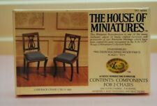 Miniature Dollhouse Hom Lyre Back Chairs Kit #40044 - 1:12 - Sealed