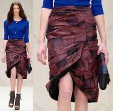 $1,995 Burberry Prorsum 2 4 36 Silk Cotton Draped Skirt Dress Women Lady ITALY