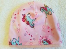 Fatto a mano Unicorno HAT CAP Ragazze Bambini Rosa 1,5-3 anni, circonferenza testa 48 cm