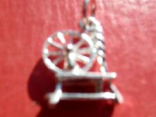 Unique Silver Charms Of A Welsh Spinning Wheel